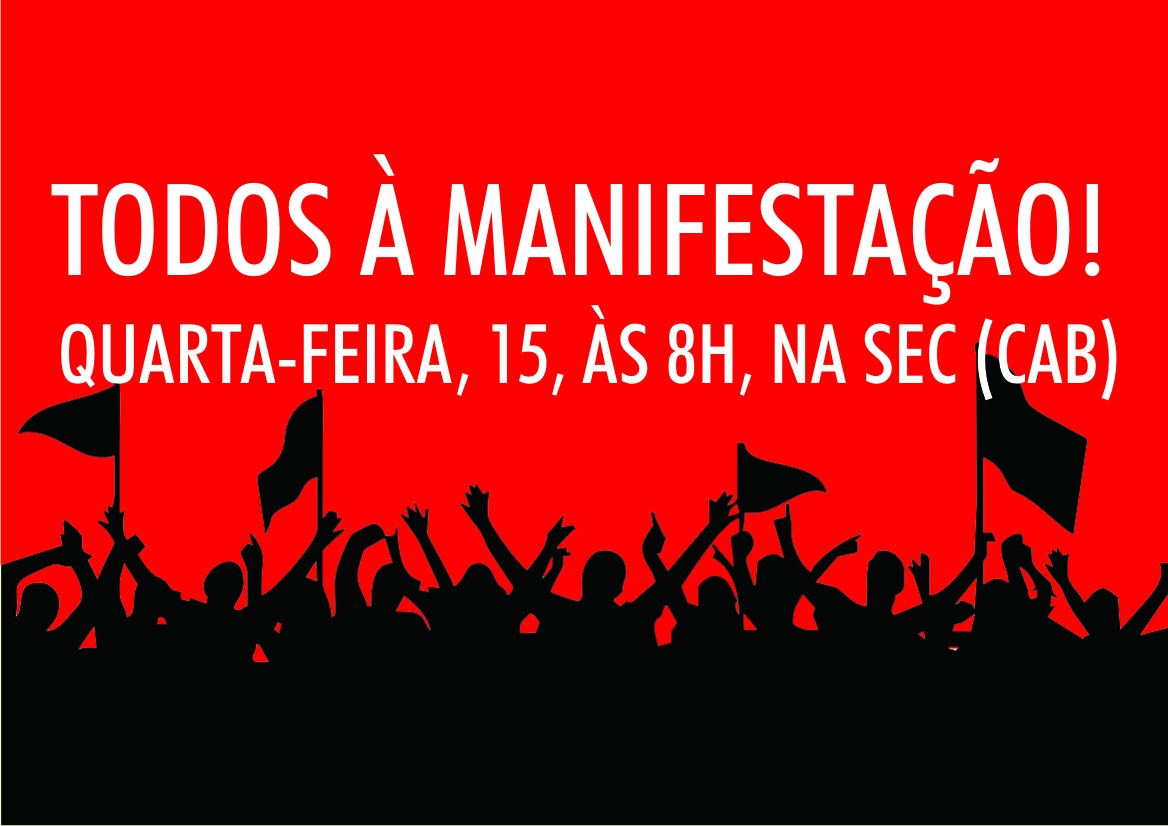 Vitoriosa manifestação dos terceirizados! Se patronato não cumprir acordo vamos realizar ações nas sedes das empresas!