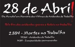 28 de Abril – Dia Mundial em Memória às Vítimas de Acidentes de Trabalho