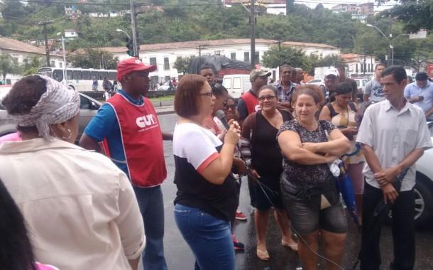 Manifestação em defesa dos direitos dos terceirizados